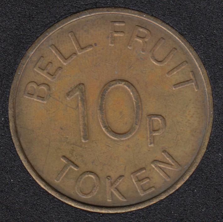 Play Money - Bell Fruit 10p Token - Nottinghamshire G.B.