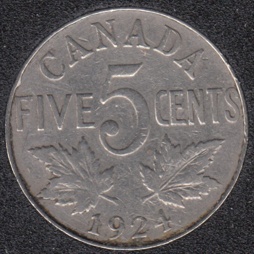 1924 - Canada 5 Cents