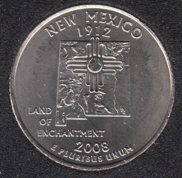 2008 P - B.Unc - New Mexico - 25 Cents