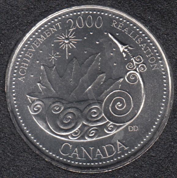 2000 - #3 B.Unc - Achievement - Canada 25 Cents