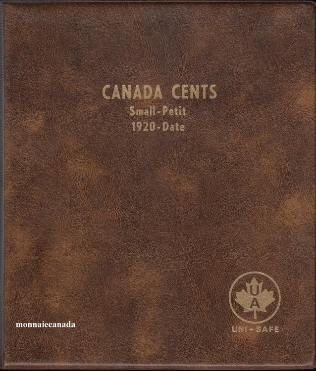 Album Canada Uni-Safe 1 Cent (Petite Cent) 1920-Date