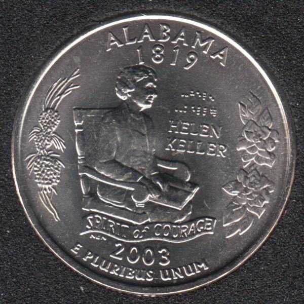 2003 P - Alabama - 25 Cents