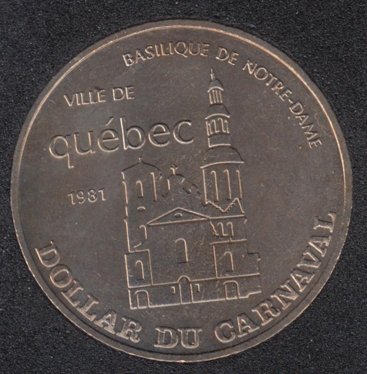 Quebec - 1981 Carnaval de Québec - Eff. 1964 / Basilique - Dollar de Commerce