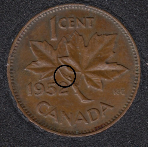 1952 - Clash on Branch - Canada Cent
