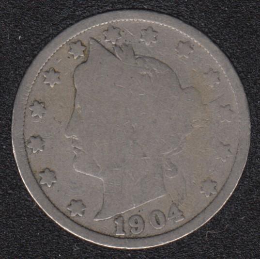1904 - Liberty Head - 5 Cents