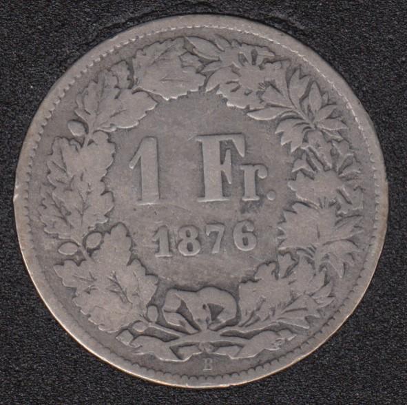 1876 B - 1 Franc - Switzerland