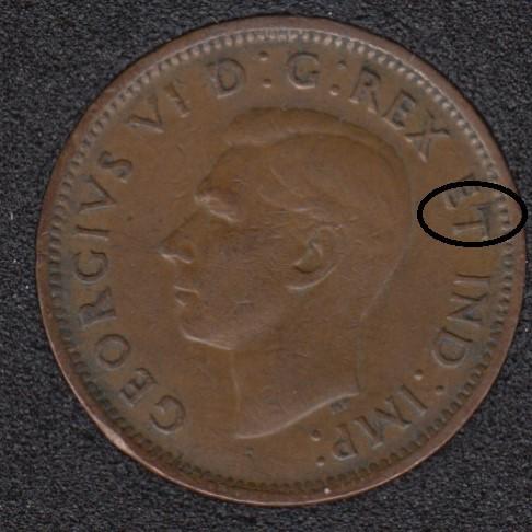1946 - Break T to Rim - Canada Cent