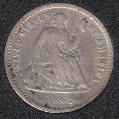 1862 - Liberty Seated - Half Dime