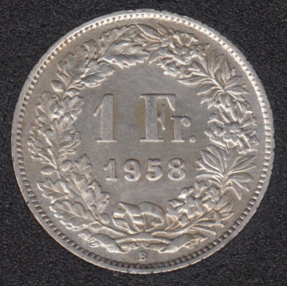 1958 B - 1 Franc - Switzerland