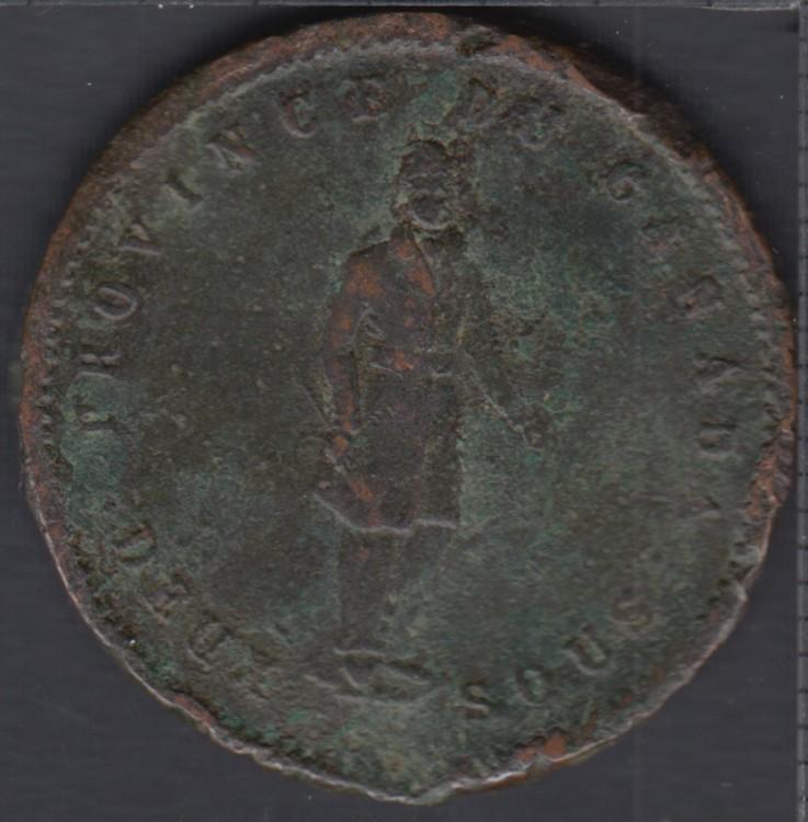 P.C. 1852 Quebec Bank - Penny Token - PC-4