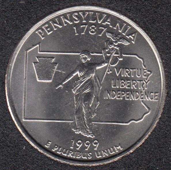 1999 D - Pennsylvania - 25 Cents