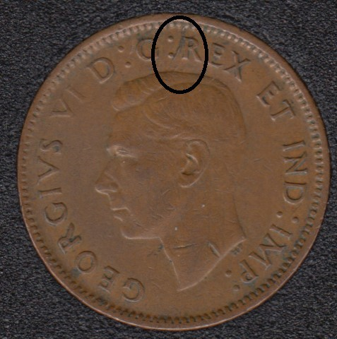 1943 - Break Near R - Canada Cent