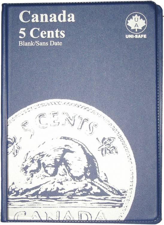 5¢ Album Canada Uni-Safe (Cinq Cents) Pas de Date