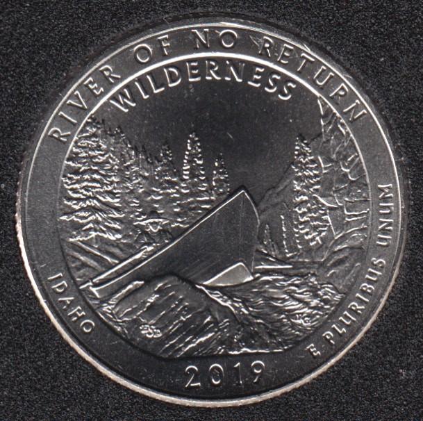 2019 D - B.Unc - River of the no Return - 25 Cents