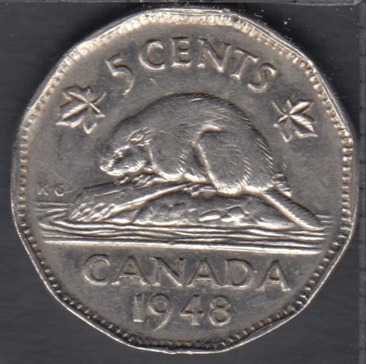 1948 - VF - Canada 5 Cents