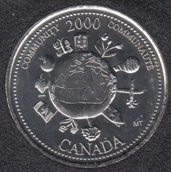 2000 - #912 B.Unc - Community - Canada 25 Cents
