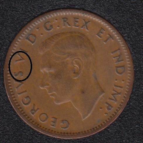 1940 - Break S to V - Canada Cent