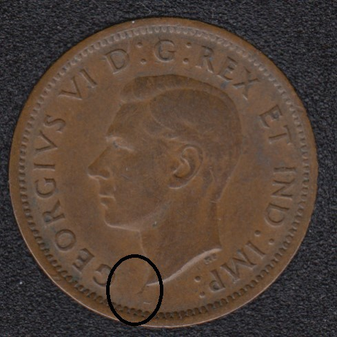 1938 - Break Bust to Rim - Canada Cent