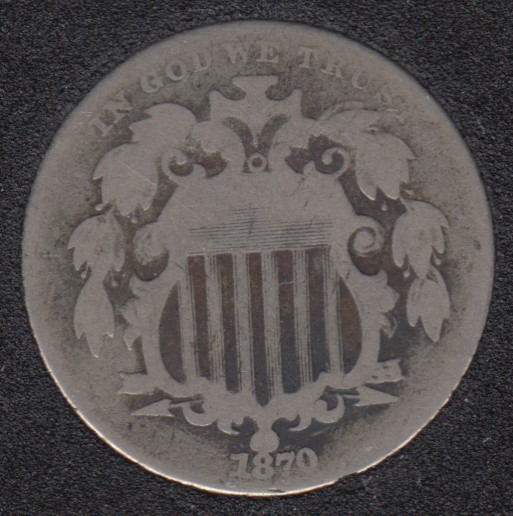 1870 - Shield - 5 Cents