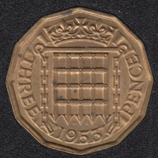 1953 - 3 Pence - Great Britain