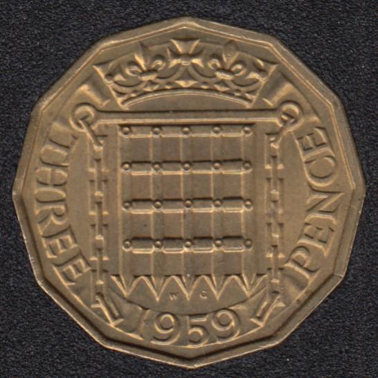 1959 - 3 Pence - Great Britain