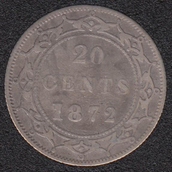 Terre Neuve - 1872 H - 20 Cents