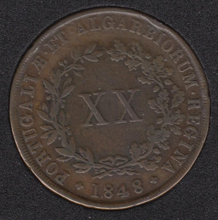 1848 - XX Reis - Portugal