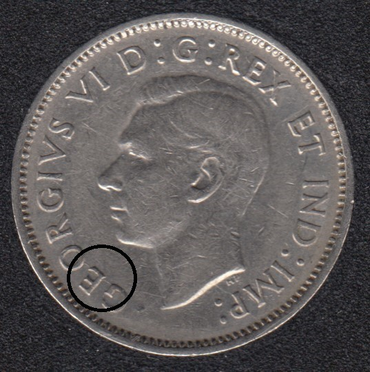 1940 - Die Break GEO Attached - Canada 5 Cents