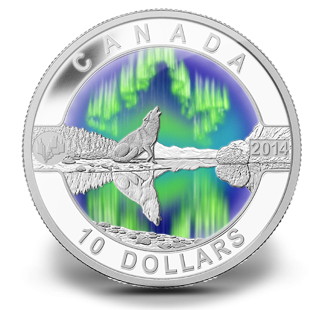 2014 10 1 2 Oz Fine Silver Coin O Canada The