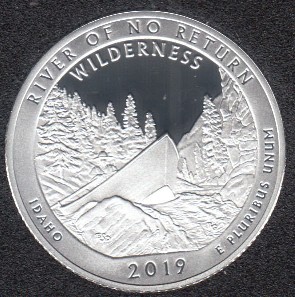2019 S - Proof - River of the no Return - Argent Fin - 25 Cents
