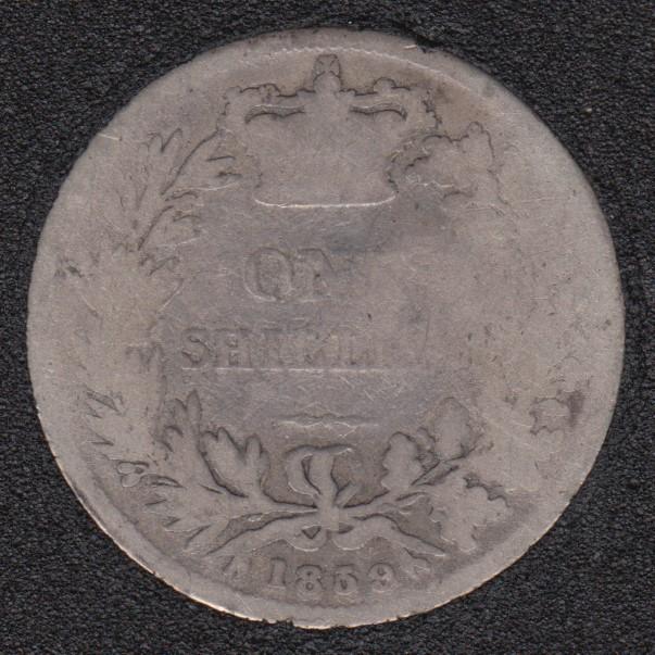 1859 - Shilling - Grande Bretagne
