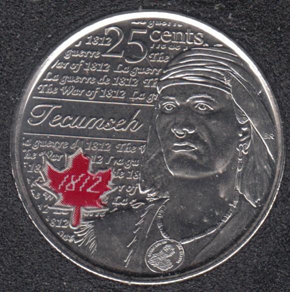 2012 - B.Unc - Tecumseh Col. Canada 25 Cents