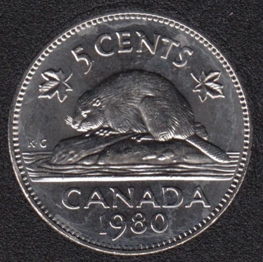 1980 - B.Unc - Canada 5 Cents
