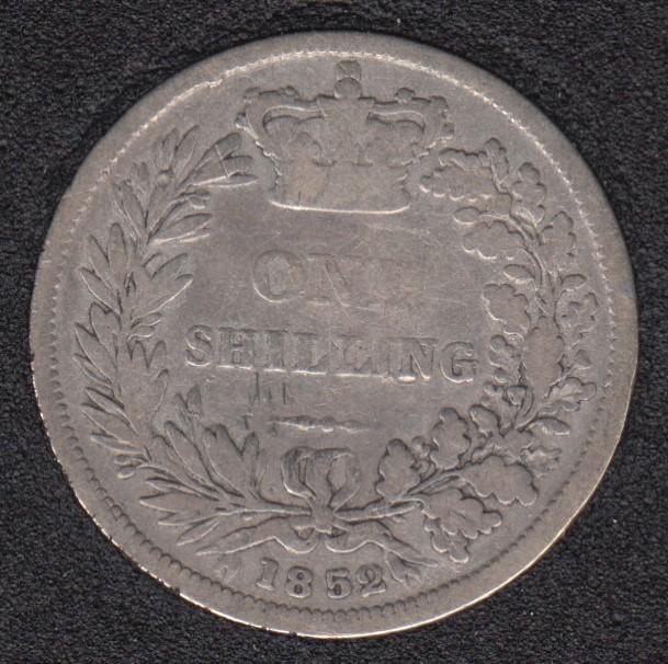 1852 - Shilling - Grande Bretagne
