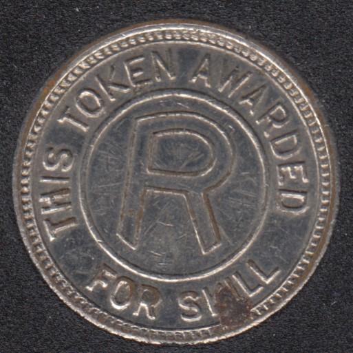 Arcade - R - Token for Awarded Skill - No Cash Value - Gaming Token