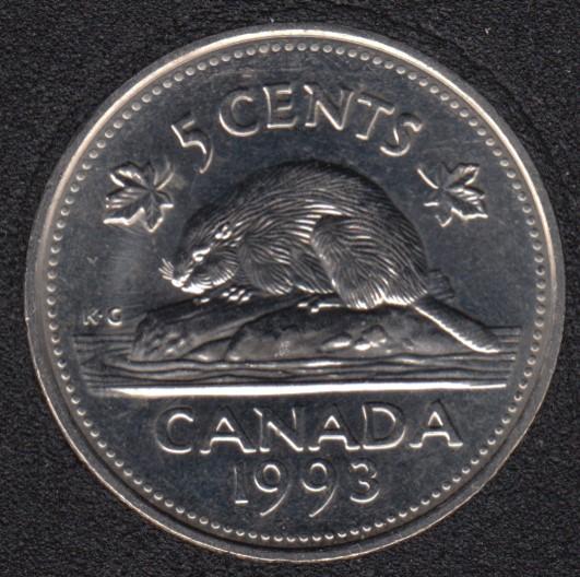 1993 - B.Unc - Canada 5 Cents
