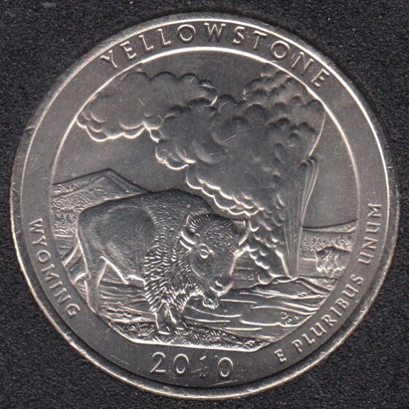 2010 P - Yellowstone - 25 Cents