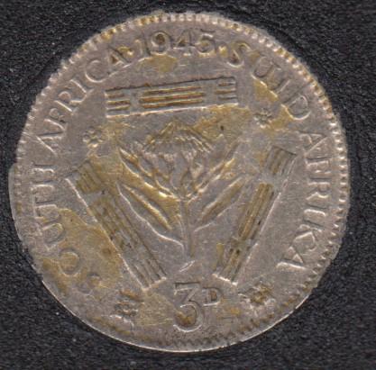 1945 - 3 Pence - Afrique du Sud