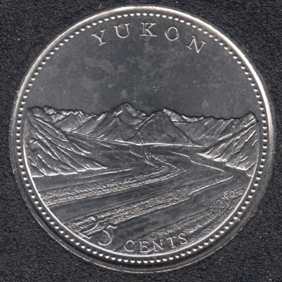 1992 - #5 B.Unc - Yukon - Canada 25 Cents