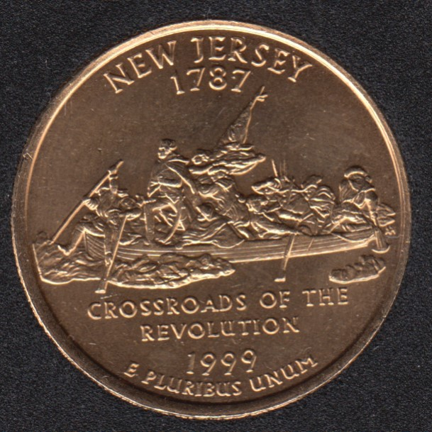 1999 D - New Jersey - Plaqué Or - 25 Cents