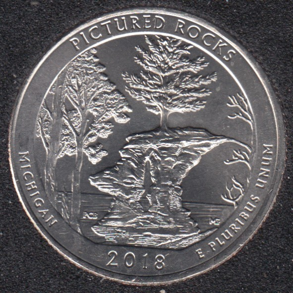 2018 P - Pictured Rocks - 25 Cents