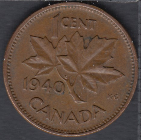 1940 - Rotated Dies - Canada Cent