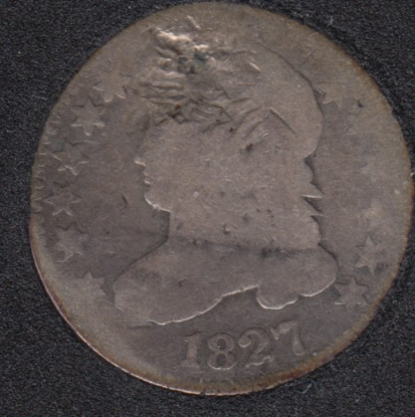 1827 - Capped Bust - Endommagé - 10 Cents