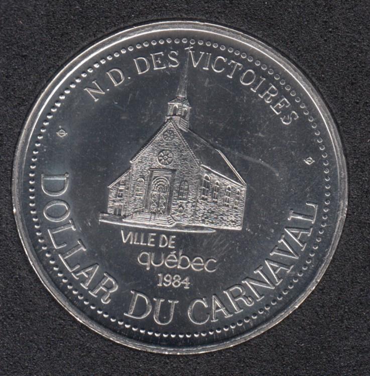 Quebec - 1984 Carnaval de Québec - Eff. 1975 / Eglise N-D des Victoires - Dollar de Commerce