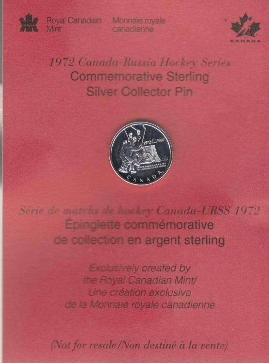 1997 Épinglette de la Serie du Siecle Canada Russie en Argent Sterling