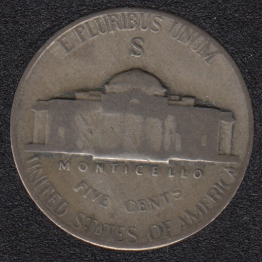 1945 S - Jefferson - Wartime Silver - 5 Cents