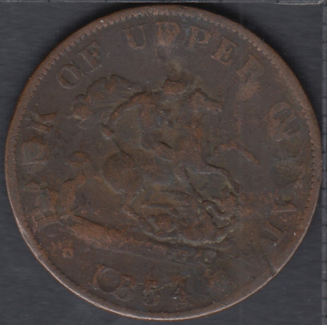 P.C. 1854 Bank of Upper Canada Half Penny - Error ? - PC-5C1