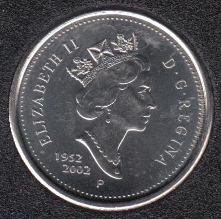 2002 - 1952 P - B.Unc - Canada 10 Cents