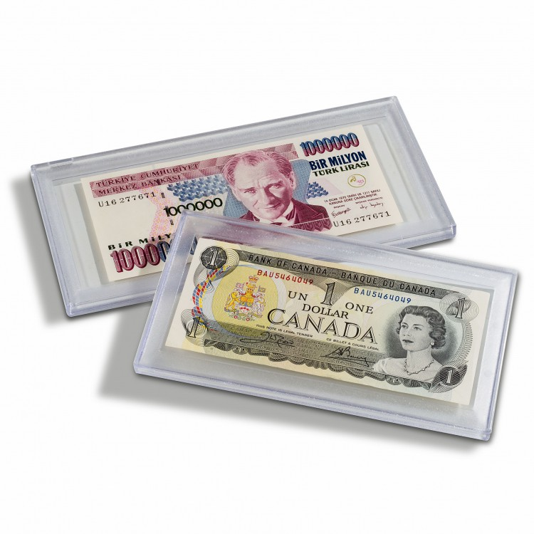 Clear snaplock currency holder, large size Stabil 190 - 190x91 mm