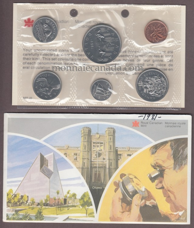 1981 BRILLIANT UNCIRCULATED SET